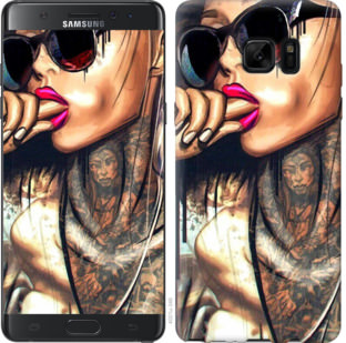 Чехол на Samsung Galaxy Note 7 Duos N930F Девушка в тату
