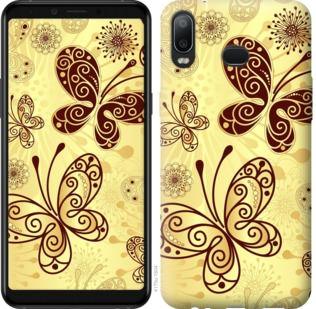 Чехол на Samsung Galaxy A6s Красивые бабочки