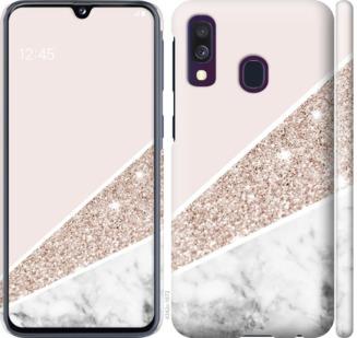 Чехол на Samsung Galaxy A40 2019 A405F Пастельный мрамор