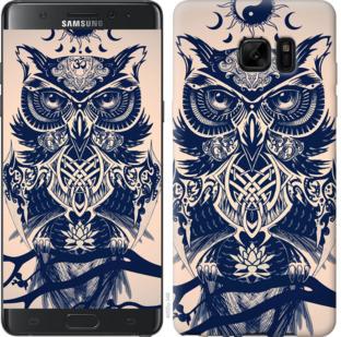 Чехол на Samsung Galaxy Note 7 Duos N930F Узорчатая сова