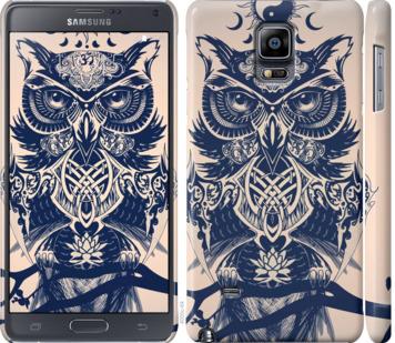 Чехол на Samsung Galaxy Note 4 N910H Узорчатая сова
