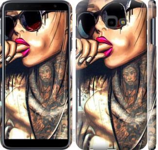 Чехол на Samsung Galaxy J4 Plus 2018 Девушка в тату