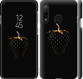 Чехол на Samsung Galaxy A8S Черная клубника