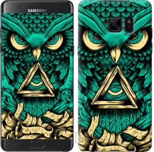 Чехол на Samsung Galaxy Note 7 Duos N930F Сова Арт-тату