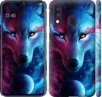 Чехол на Samsung Galaxy A40 2019 A405F Арт-волк