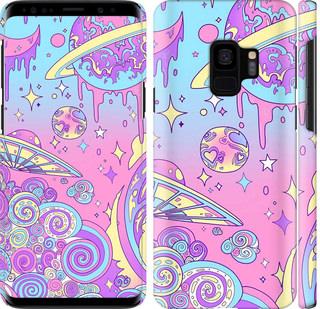 Чехол на Samsung Galaxy S9 Розовая галактика