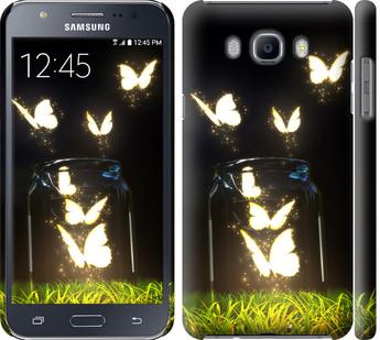 Чехол на Samsung Galaxy J7 (2016) J710F Светящиеся бабочки
