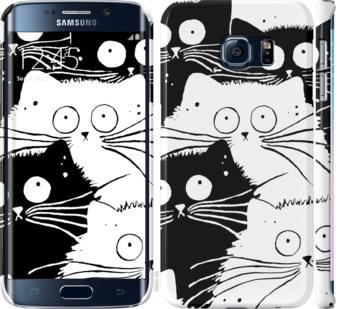 Чехол на Samsung Galaxy S6 Edge G925F Коты v2