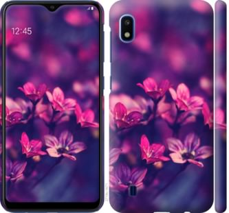 Чехол на Samsung Galaxy A10 2019 A105F Пурпурные цветы