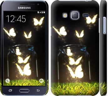 Чехол на Samsung Galaxy J3 Duos (2016) J320H Светящиеся бабочки