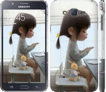 Чехол на Samsung Galaxy J7 J700H Милая девочка с зайчиком