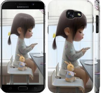 Чехол на Samsung Galaxy A5 (2017) Милая девочка с зайчиком