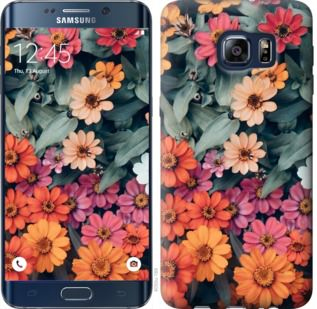 Чехол на Samsung Galaxy S6 Edge Plus G928 Beauty flowers