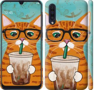 Чехол на Samsung Galaxy A50 2019 A505F Зеленоглазый кот в очках