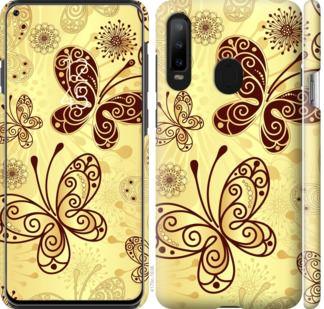 Чехол на Samsung Galaxy A8S Красивые бабочки