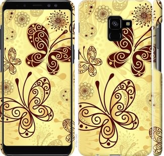 Чехол на Samsung Galaxy A8 Plus 2018 A730F Красивые бабочки