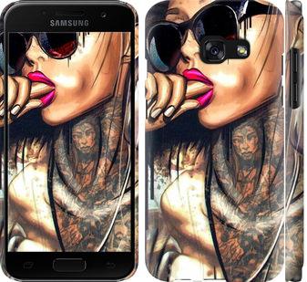 Чехол на Samsung Galaxy A3 (2017) Девушка в тату