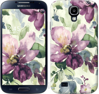 Чехол на Samsung Galaxy S4 i9500 Цветы акварелью