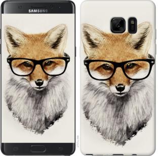 Чехол на Samsung Galaxy Note 7 Duos N930F Лис в очках