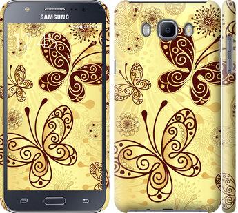Чехол на Samsung Galaxy J7 (2016) J710F Красивые бабочки