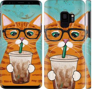 Чехол на Samsung Galaxy S9 Зеленоглазый кот в очках