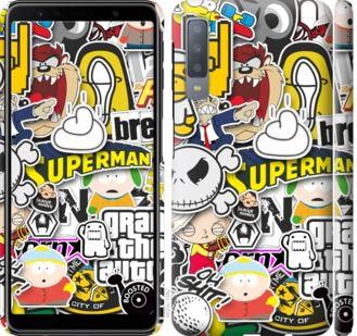 Чехол на Samsung Galaxy A7 (2018) A750F Popular logos