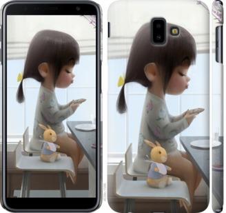 Чехол на Samsung Galaxy J6 Plus 2018 Милая девочка с зайчиком