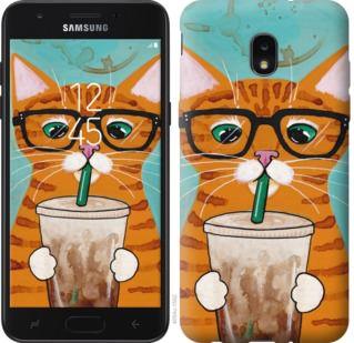 Чехол на Samsung Galaxy J7 2018 Зеленоглазый кот в очках