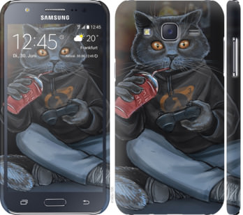 Чехол на Samsung Galaxy J5 (2015) J500H gamer cat