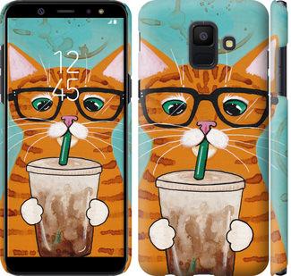 Чехол на Samsung Galaxy A6 2018 Зеленоглазый кот в очках