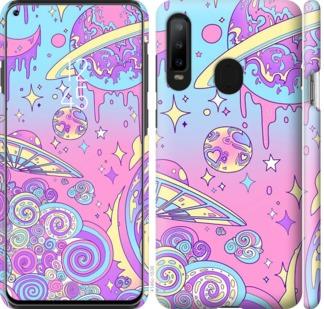 Чехол на Samsung Galaxy A8S Розовая галактика