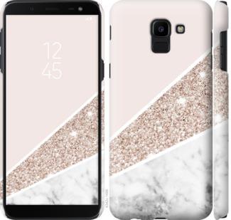 Чехол на Samsung Galaxy J6 2018 Пастельный мрамор