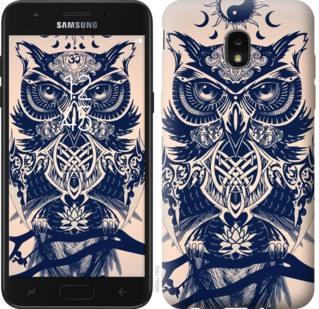 Чехол на Samsung Galaxy J7 2018 Узорчатая сова