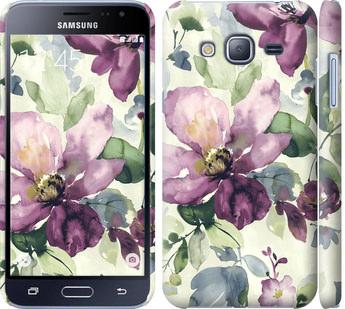 Чехол на Samsung Galaxy J3 Duos (2016) J320H Цветы акварелью