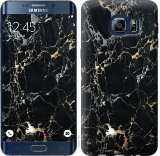 Чехол на Samsung Galaxy S6 Edge Plus G928 Черный мрамор