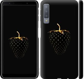 Чехол на Samsung Galaxy A7 (2018) A750F Черная клубника