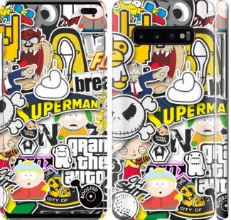 Чехол на Samsung Galaxy S10 Plus Popular logos
