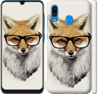 Чехол на Samsung Galaxy A30 2019 A305F Лис в очках