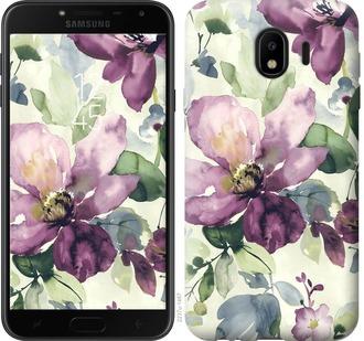 Чехол на Samsung Galaxy J4 2018 Цветы акварелью