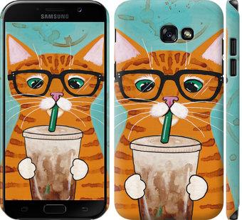 Чехол на Samsung Galaxy A7 (2017) Зеленоглазый кот в очках