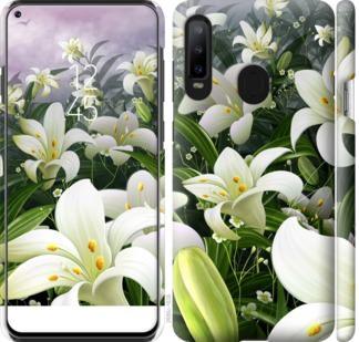 Чехол на Samsung Galaxy A8S Белые лилии