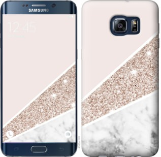 Чехол на Samsung Galaxy S6 Edge Plus G928 Пастельный мрамор