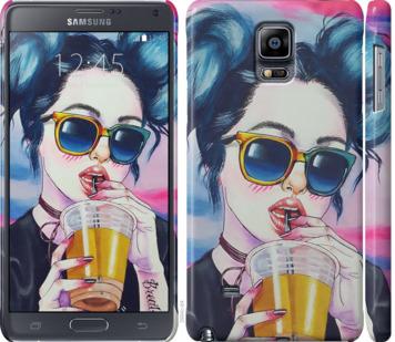 Чехол на Samsung Galaxy Note 4 N910H Арт-девушка в очках