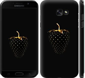 Чехол на Samsung Galaxy A7 (2017) Черная клубника
