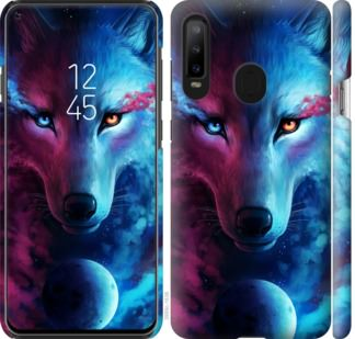 Чехол на Samsung Galaxy A8S Арт-волк
