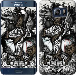 Чехол на Samsung Galaxy S6 Edge Plus G928 Тату Викинг