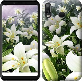 Чехол на Samsung Galaxy A6s Белые лилии