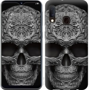 Чехол на Samsung Galaxy A20e A202F skull-ornament