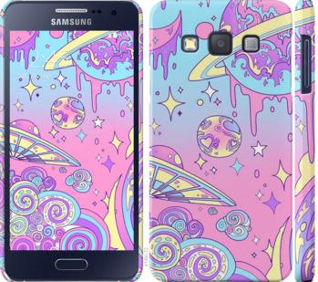Чехол на Samsung Galaxy A3 A300H Розовая галактика