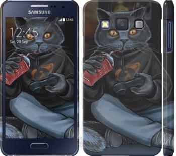 Чехол на Samsung Galaxy A3 A300H gamer cat